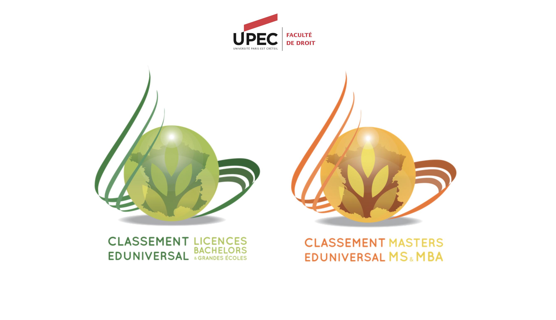 Eduniversal UPEC Droit Classement 2020