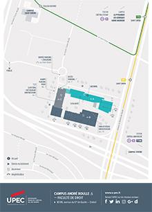 Carte du Campus André Boulle